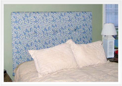 How to make an upholstered headboard with buttons do it for Do it yourself headboards with fabric