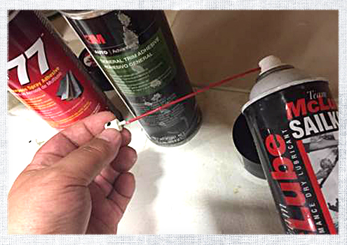 How to Clean Spray Adhesives