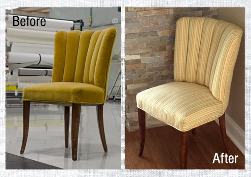 How to Reupholster a Channel Back Chair