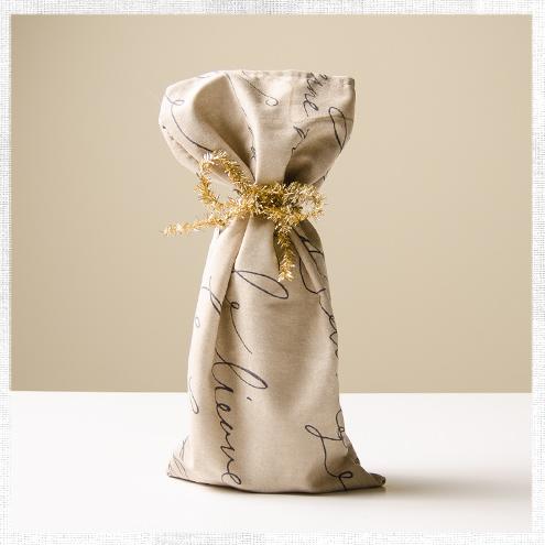 Make a Wine or Champagne Gift Bag
